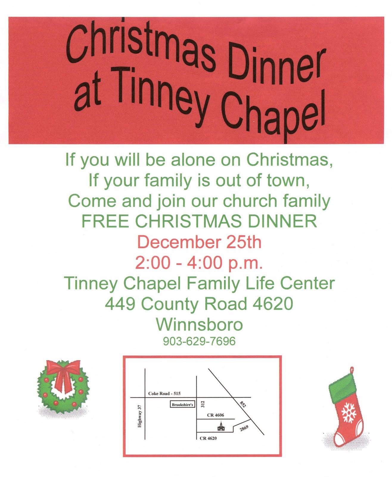 Tinney Chapel Today: Third Annual Free Christmas Dinner @ Tinney ...