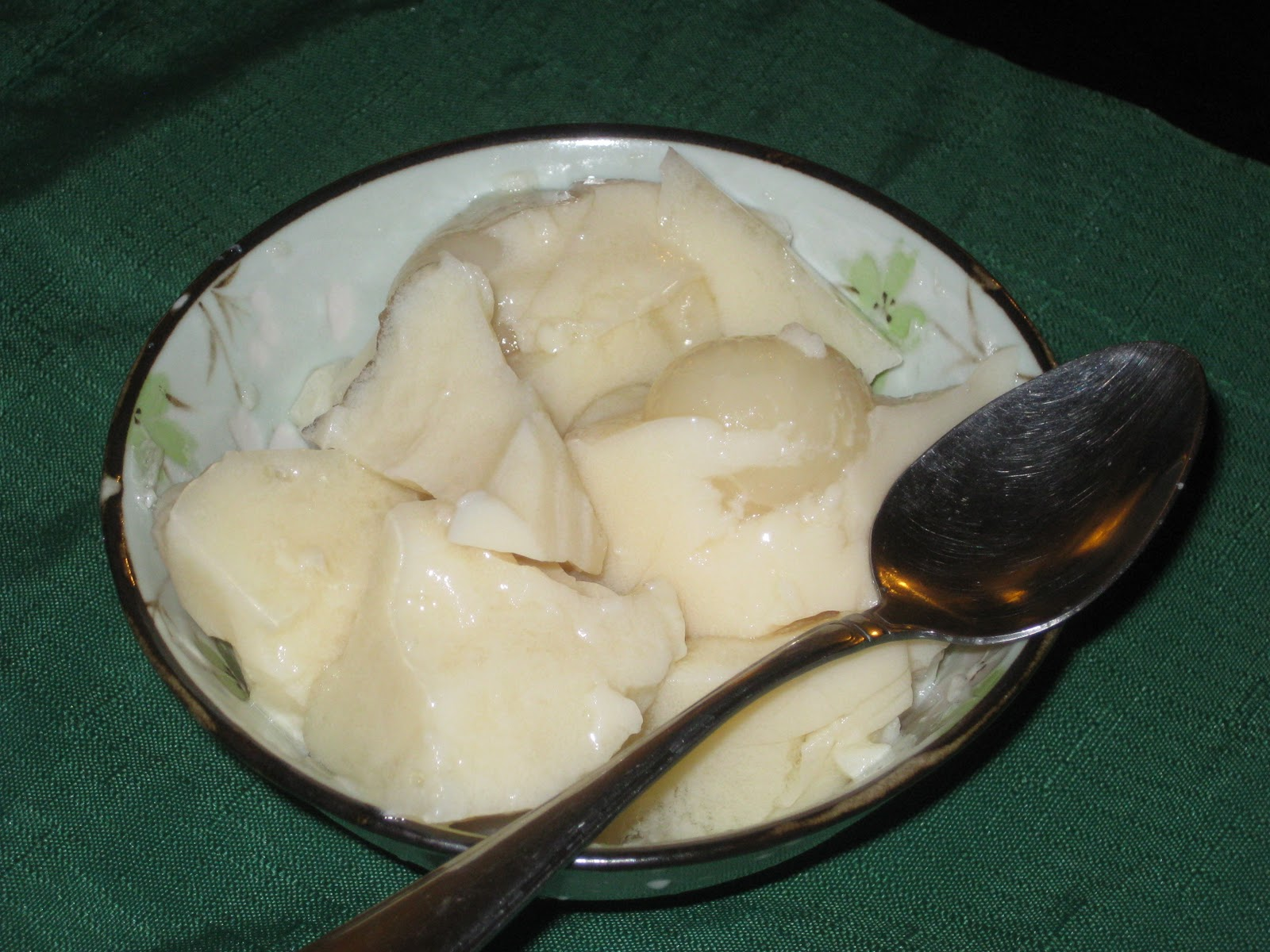 Soy Milk Pudding Recipe Soy Milk And Longan Pudding