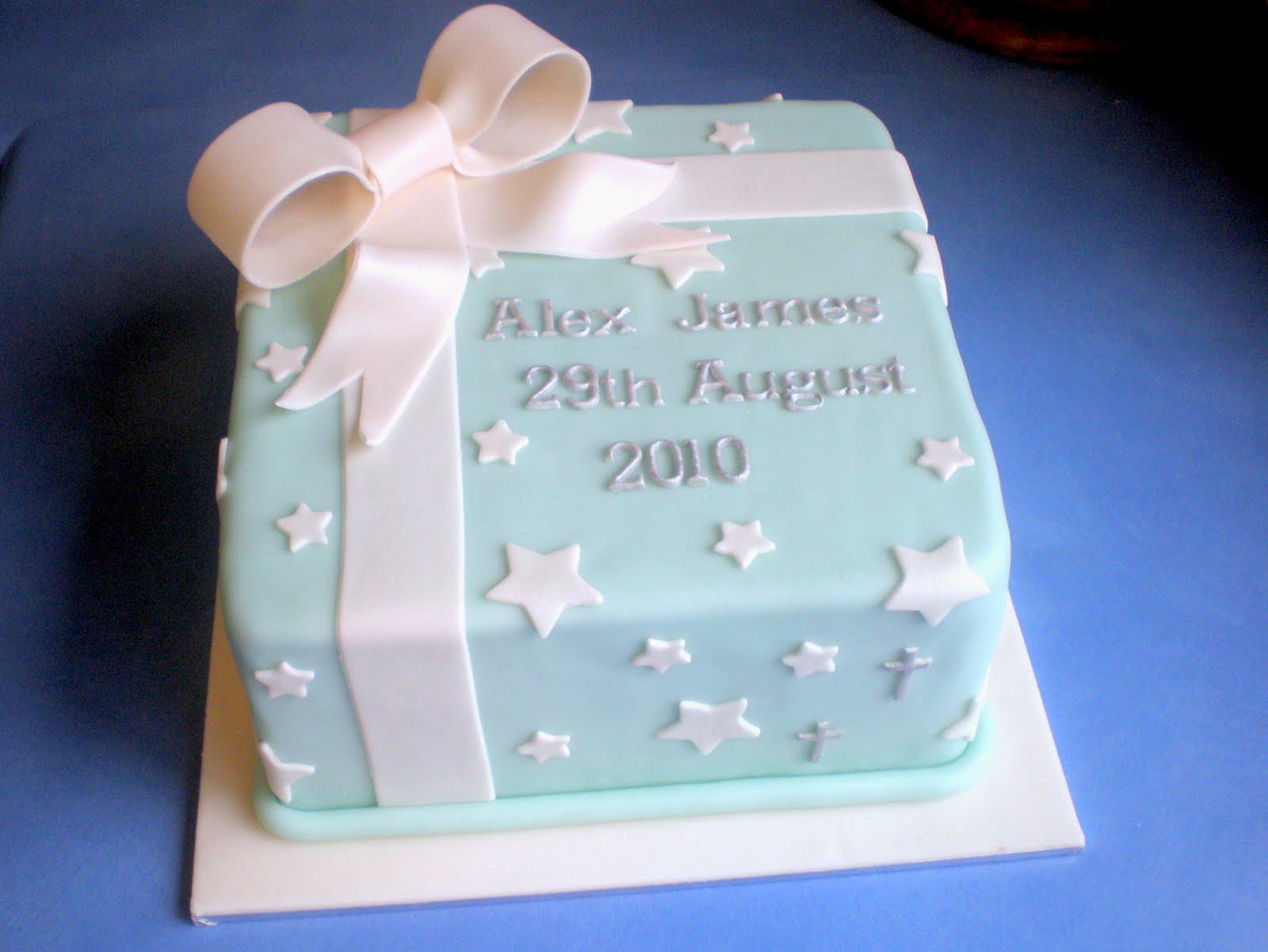 Sugar Siren Cakes Mackay Boys Christening Cake