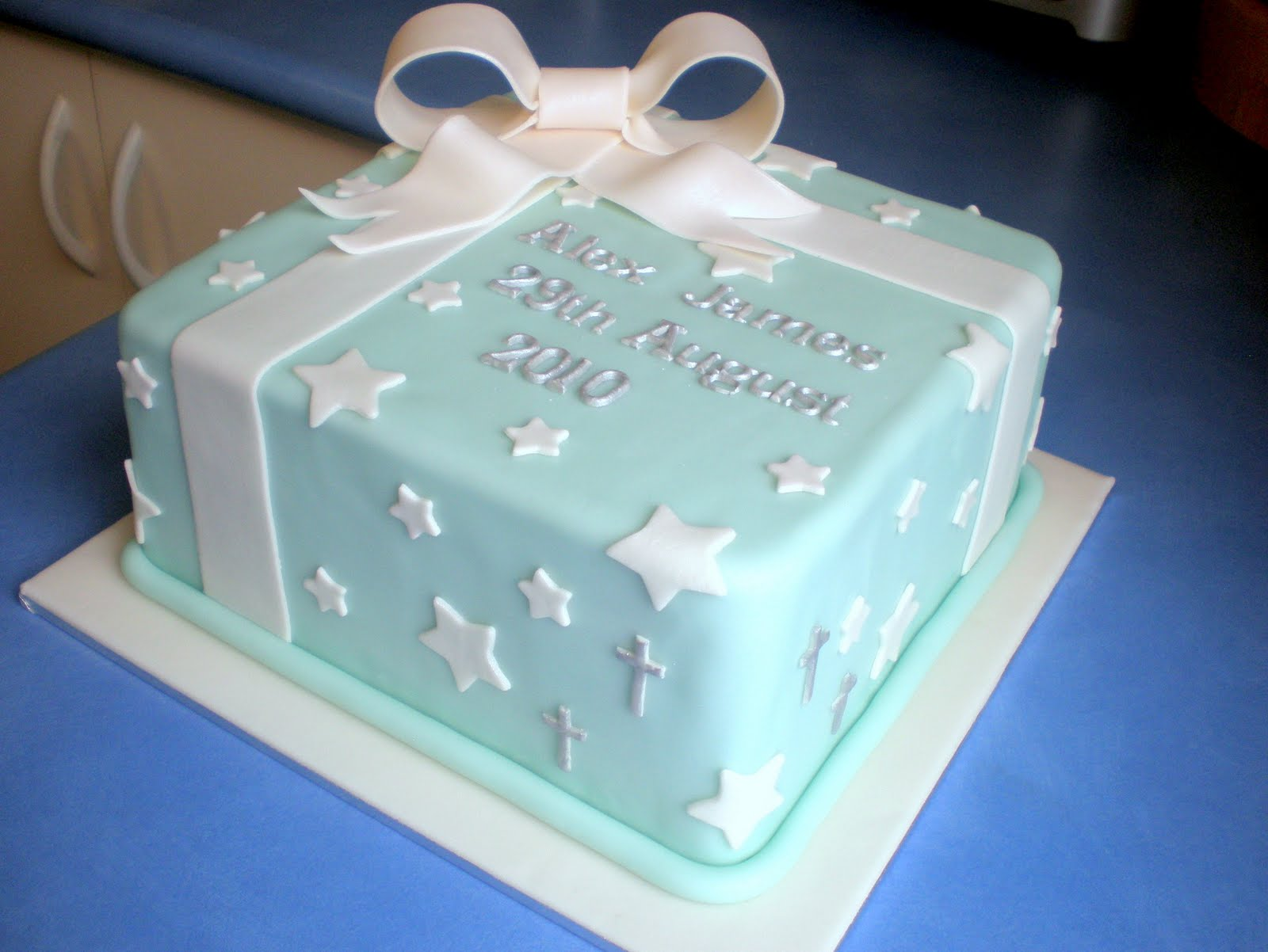 Boy Cake Christening for Baptism