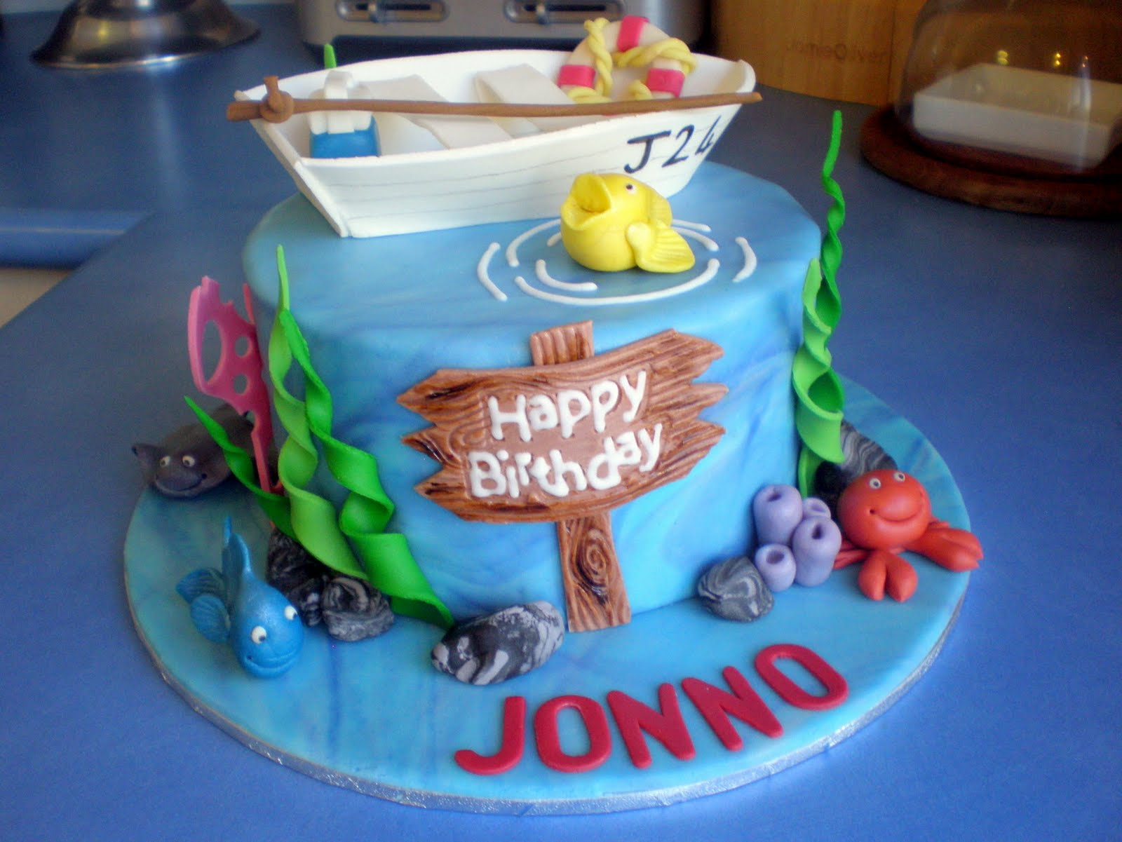 Sugar Siren Cakes Mackay Fishing Birthday Cake