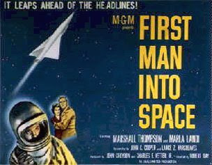 FIRST MAN INTO SPACE poster and Amazon link