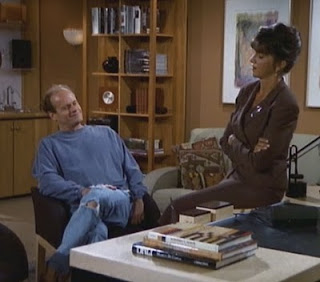 Frasier and his new boss at an impasse