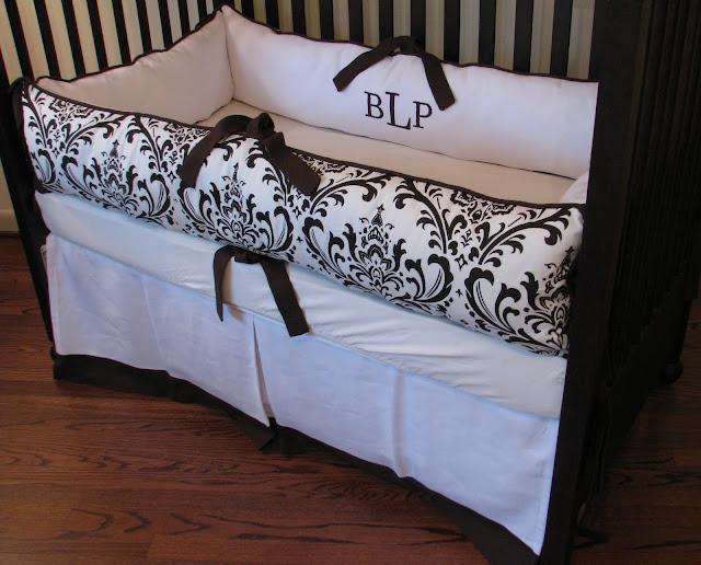 one haute kid gender nuetral brown white nursery bedding. Black Bedroom Furniture Sets. Home Design Ideas