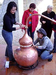 practica en curso de destilación
