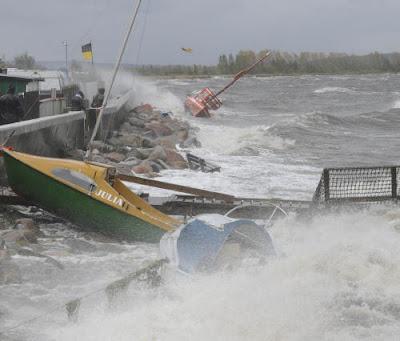 gdynia marina sztorm
