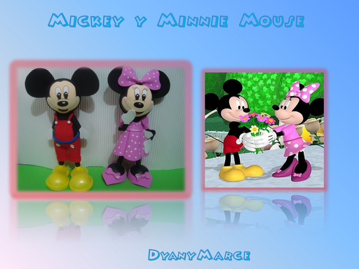 Ideas Creativas Goma Eva: Mickey Y Minnie Mouse