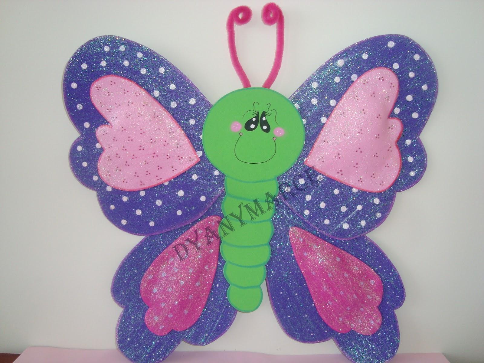 Imagenes de mariposa en goma eva imagui - Como hacer mariposas de goma eva ...
