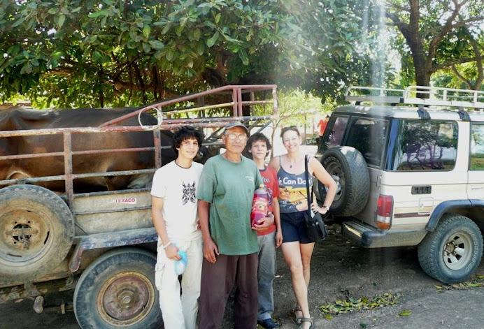 Farm trip: Danny, Molina, Jose, me