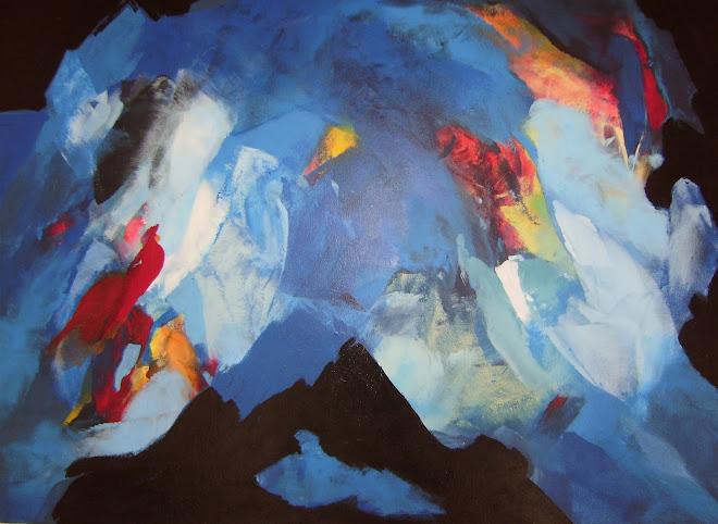 Blauwe gedachten- Pensamentos em azul