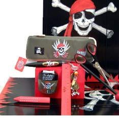 Piraten-Schreibset für Linkshänder