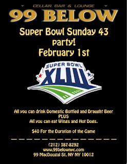 Super Bowl Party At 99 Below