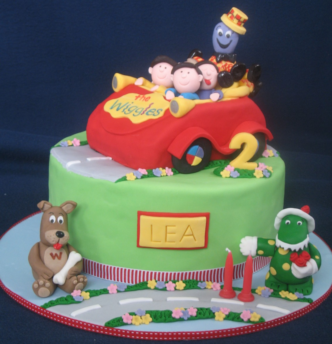 Blissfully Sweet Wiggles Big Red Car Cake Featuring Wags Dorothy