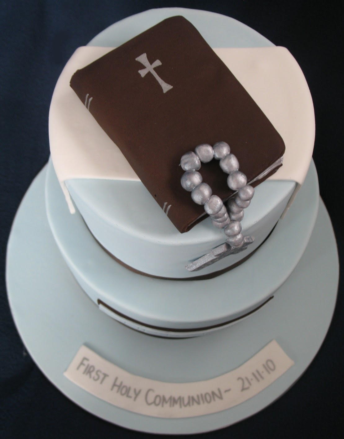 Blissfully Sweet Boys Holy Communion Cake