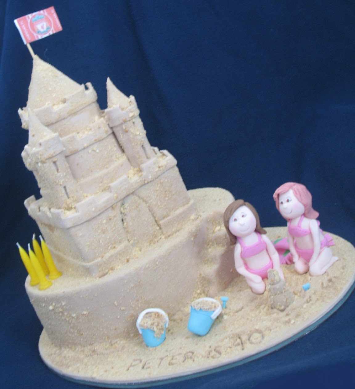 Blissfully Sweet A Sand Castle 40th Birthday Cake