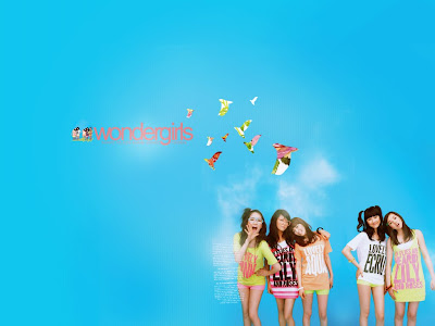 6 different wallpapers, with all five Wonder Girls represented each plus