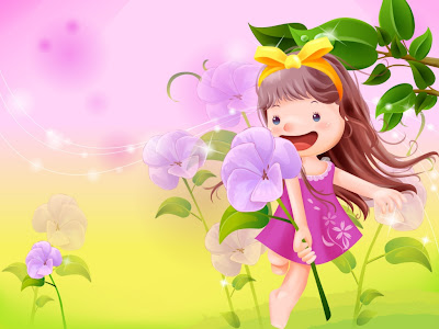 Cute Girls Wallpapers Cartoon. Cute Little Girl Cartoons II