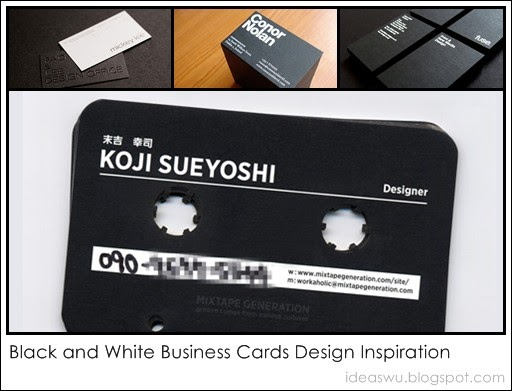 Black and white business card design for Black and white business card design
