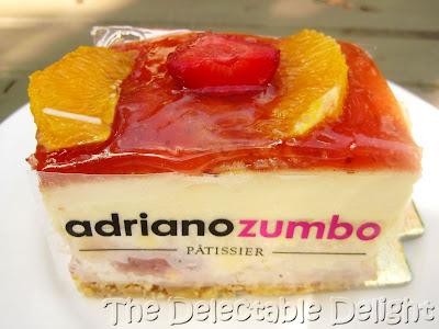 ... orange strawberry compote, cream cheese crème legere with crepe and