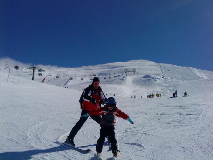 Esquiando con Papá !!!!