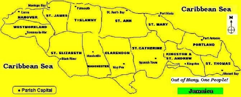 The Jamaican Culture The Jamaican Culture Our 14 Parishes – Jamaica Tourist Attractions Map