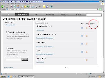 Erro de português em site, suporte foi escrito soporte