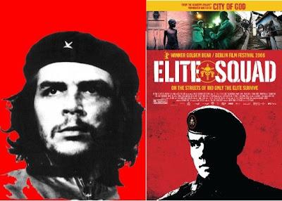 Capitão Nascimento, Wagenr Moura, tem foto estampada igual ao Che Guevara, sabe porque?