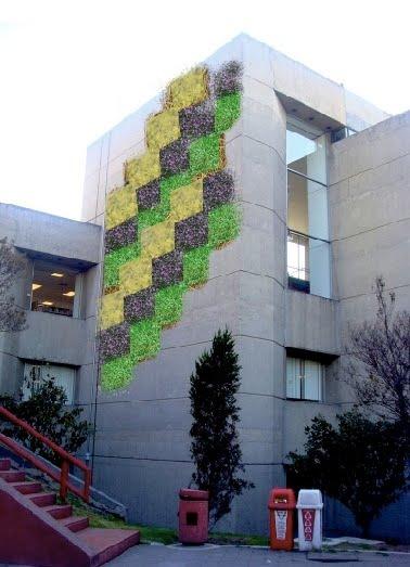 5 cajas verdes propone 5 cajas verdes for Muro verde sistema constructivo