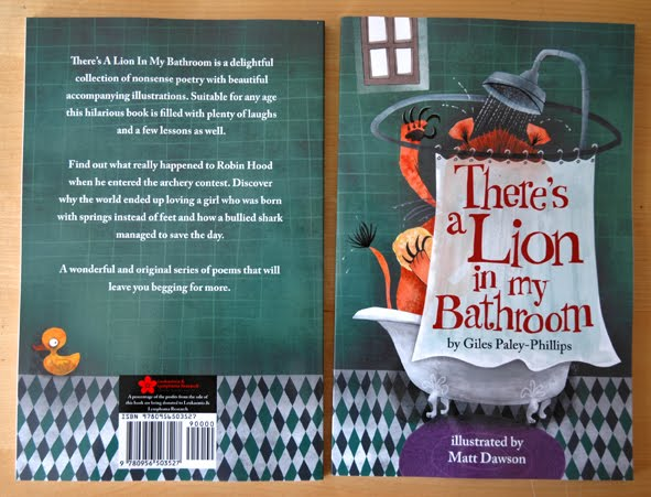 Poetry Book Front Cover : Matt dawson quot there s a lion in my bathroom nonsense
