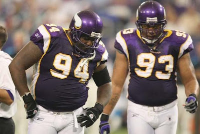 Pat and Kevin Williams known as the Williams Wall on the field for the Minnesota Vikings