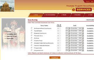 Review of Ttd Online Booking service of Ttdsevaonline.com