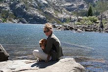 Upper Sardine Lake with mom