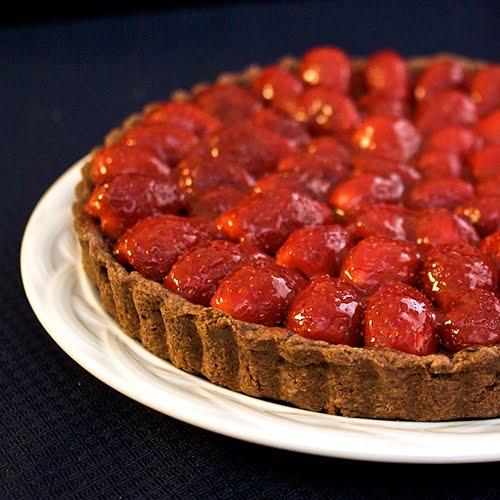 Javaholic: Strawberry Chocolate Truffle Tart