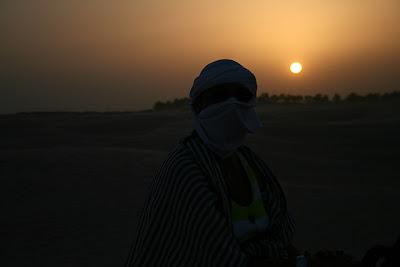 Anochece en el desierto