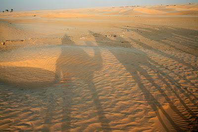 Siluetas en el desierto