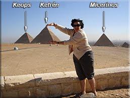 Colocando bien la pirámide de Kefrén
