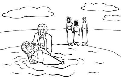 o batismo de jesus para colorir hora de colorir atividades