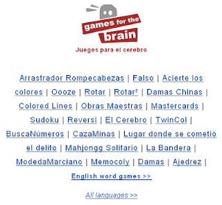 Brain Trainer On-Line o Entrenador de cerebros