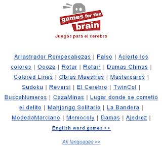 Brain Trainer On-Line o Entrenador de cerebros