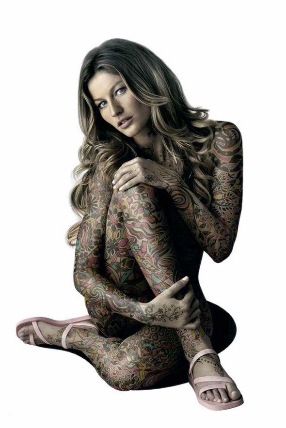 Tattoo; model, tattoo, woman