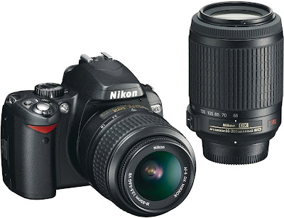 Nikon D60 double kit: Nikkor 18-55mm and Nikkor 55-200mm