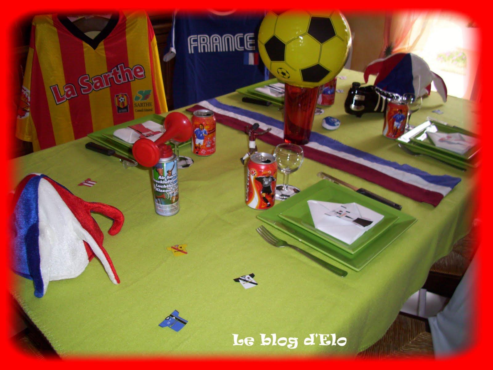 Le blog d 39 elo d co de table 100 foot for Deco francaise