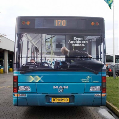 Careless Bus Driver - Bus Optical Illusion