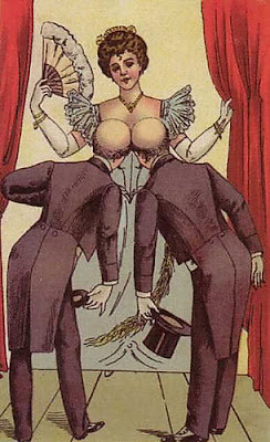 Lady and Two Bald Men - Optical Illusion