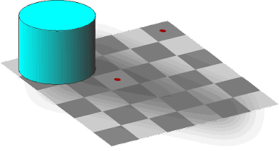 Chessboard Optical Illusion - Chessboard Shading Optical Illusion