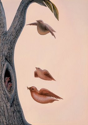 Amazing Illusion Made By Tree Birds