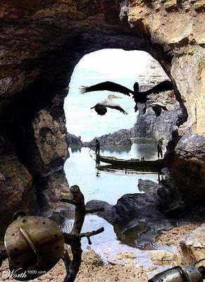 Dali Cave Optical Illusion