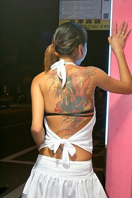 Dragon Tattoo on Japanese Girl