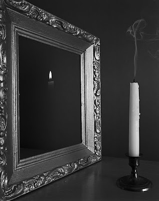 Candle Reflection in Mirror Illusion