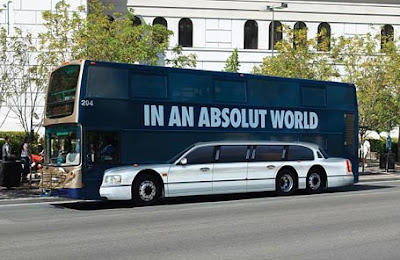 Limo Bus: In An Absolut World Bus Advertisement